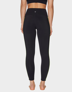 MULTICOLOR TRIM SIDES LEGGING BLACK