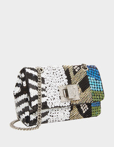 NIGHT LINE BEADED CROSSBODY MULTI