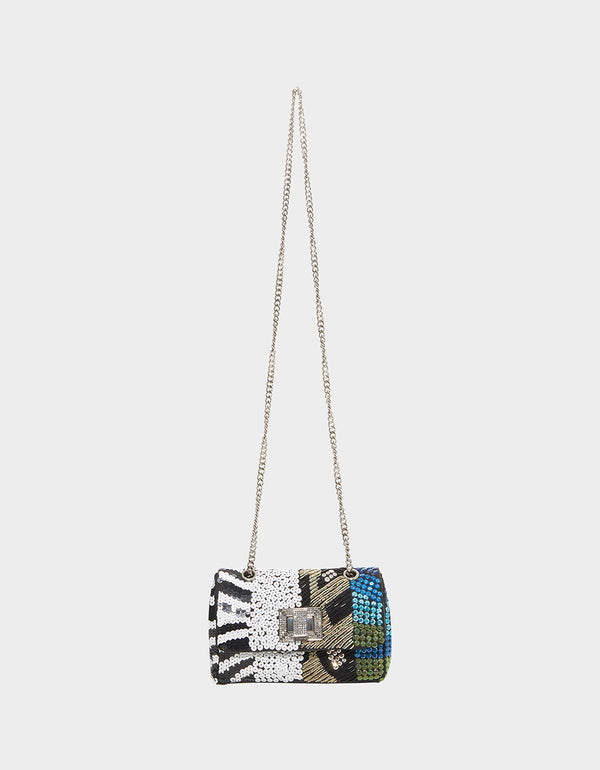 NIGHT LINE BEADED CROSSBODY MULTI - HANDBAGS - Betsey Johnson