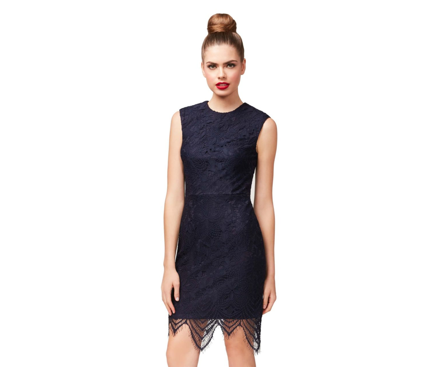 NIGHTLINE NAVY DRESS NAVY - APPAREL - Betsey Johnson