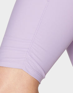 NINE INCH BIKE SHORT WITH SHIRRING LILAC