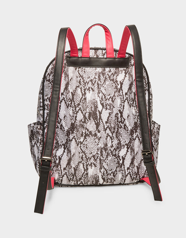 NYLON GONE WILD BACKPACK BLACK-WHITE - HANDBAGS - Betsey Johnson