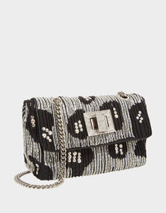 ON THE TOWN CROSSBODY SILVER