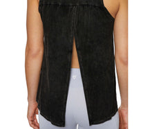 OPEN BACK BLEACH WASHED TANK BLACK - APPAREL - Betsey Johnson