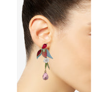 OPULENT FLORAL BIRD EARRINGS MULTI - JEWELRY - Betsey Johnson