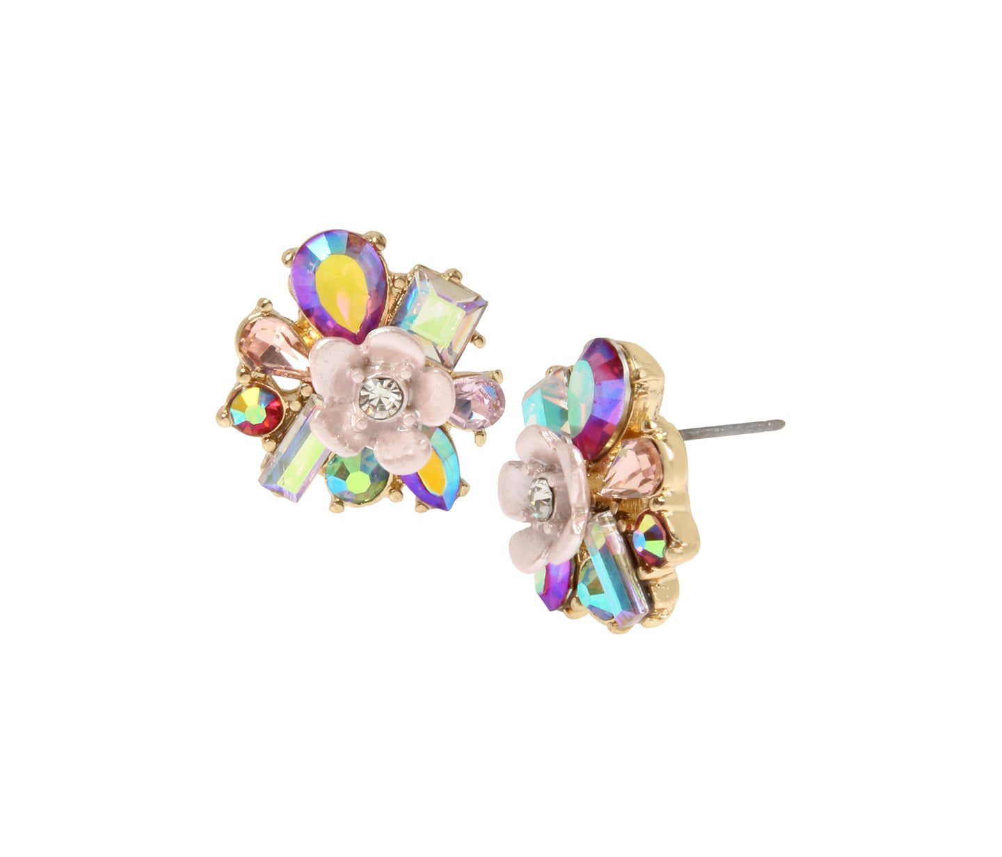 OPULENT FLORAL CLUSTER EARRINGS MULTI - JEWELRY - Betsey Johnson