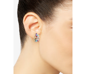 OPULENT FLORAL CLUSTER EARRINGS MULTI