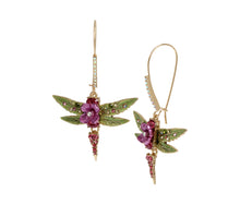 OPULENT FLORAL DRAGONFLY EARRINGS PINK - JEWELRY - Betsey Johnson