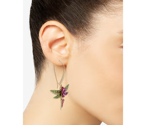 OPULENT FLORAL DRAGONFLY EARRINGS PINK