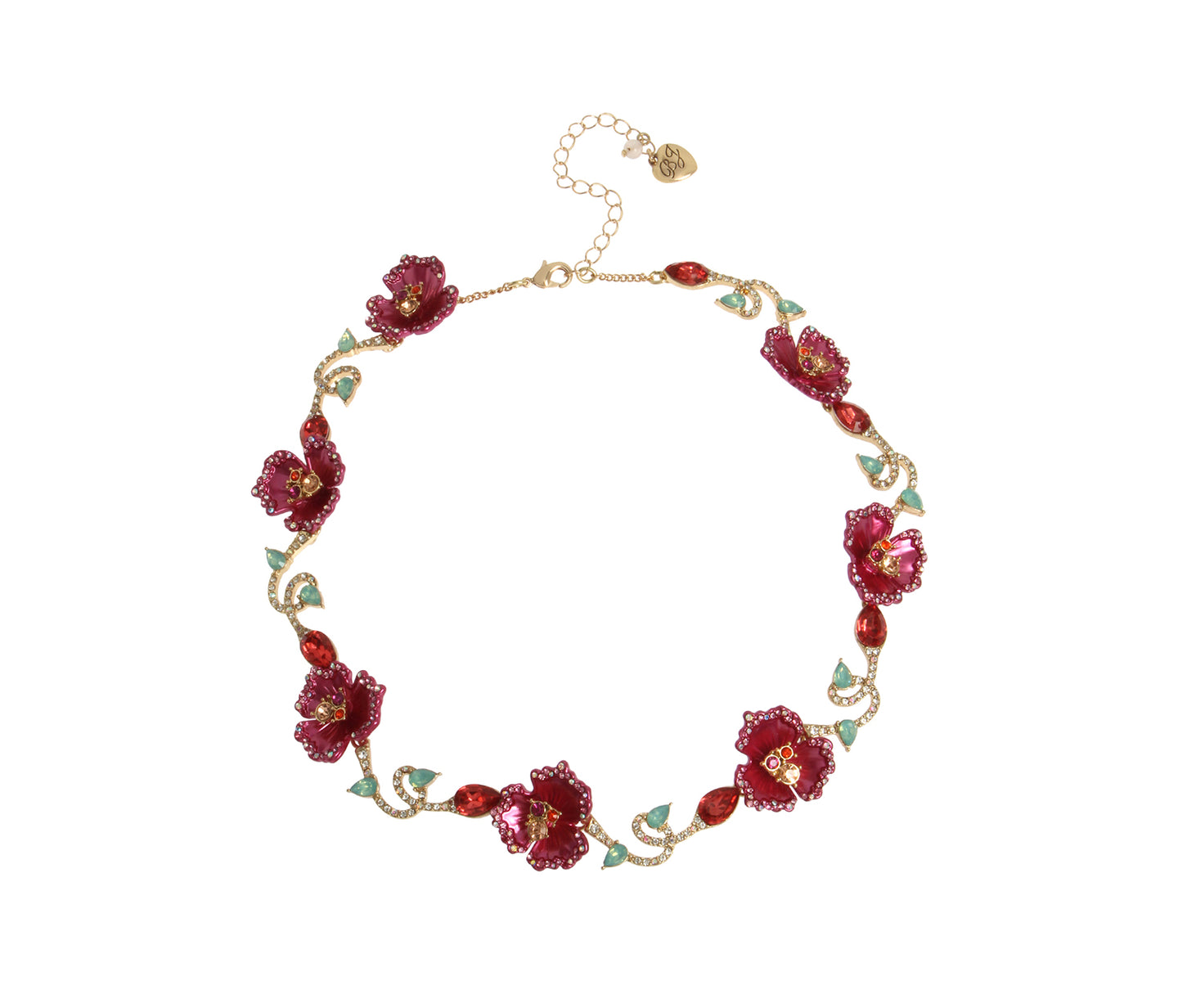 OPULENT FLORAL FLOWER COLLAR FUCHSIA - JEWELRY - Betsey Johnson