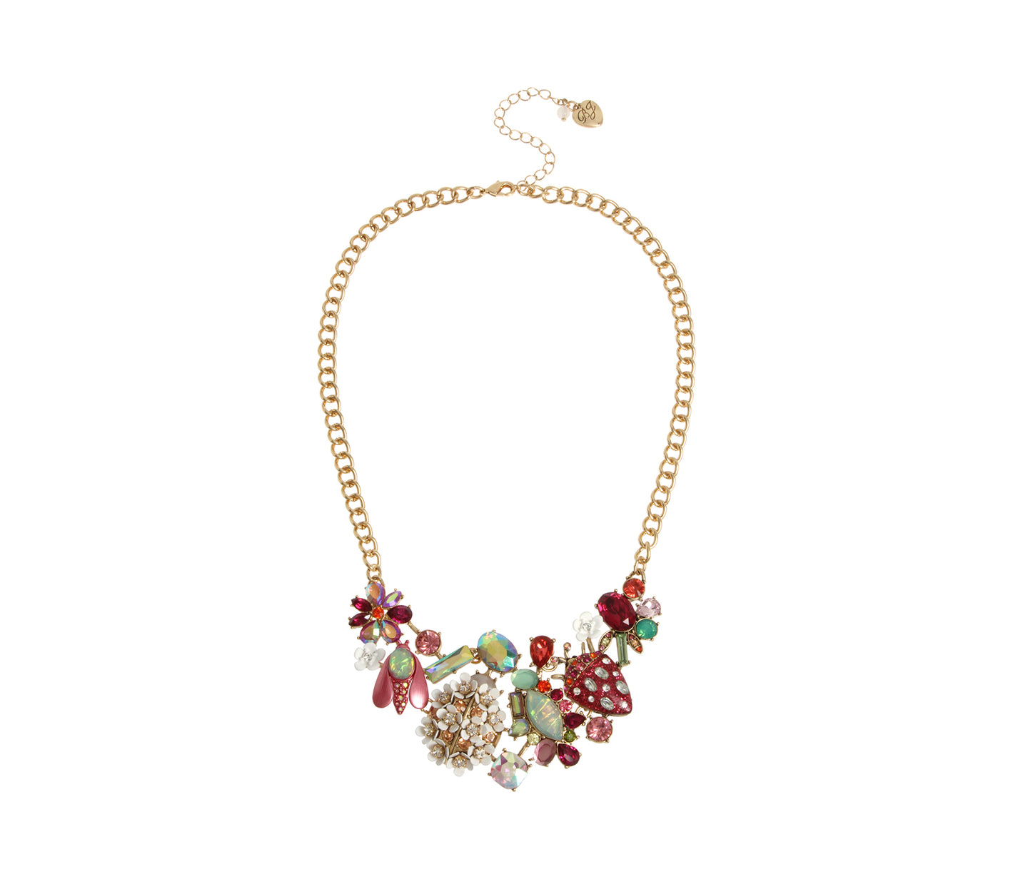 OPULENT FLORAL SMALL BIB NECKLACE MULTI - JEWELRY - Betsey Johnson