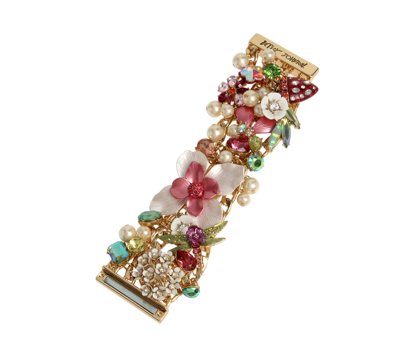 OPULENT FLORAL STATEMENT BRACELET MULTI - JEWELRY - Betsey Johnson