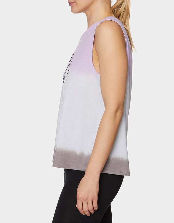 OVER THE RAINBOW DIP DYE TANK LILAC - APPAREL - Betsey Johnson
