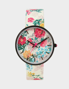 OVERTIME 3-D PRINTED WATCH FLORAL