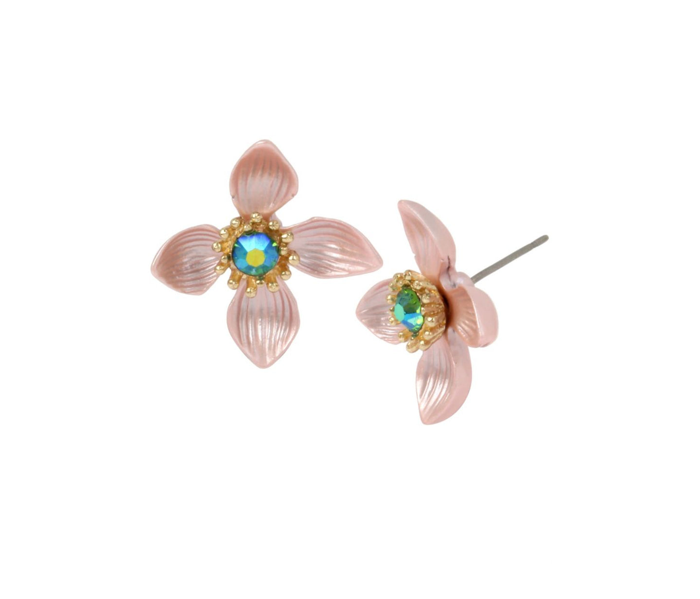 PARADISE LOST SWEET PETALS STUD EARRINGS PINK - JEWELRY - Betsey Johnson