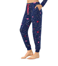 PEACE AND LOVE PANT NAVY - APPAREL - Betsey Johnson