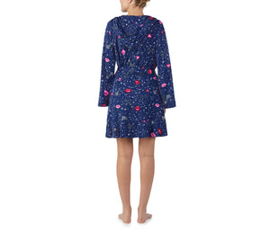 PEACE AND LOVE ROBE NAVY