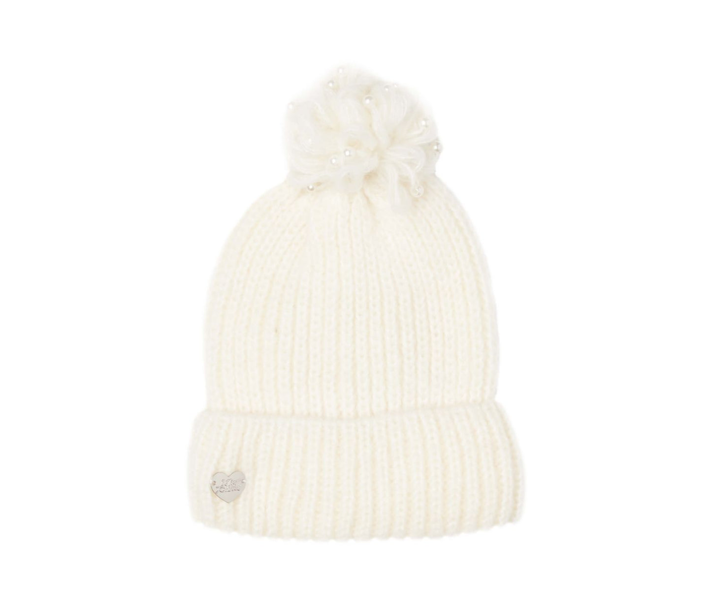 PEARL JAM CUFF HAT IVORY - ACCESSORIES - Betsey Johnson