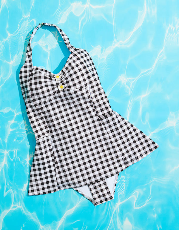PICNIC ARTIST ONE PIECE BLACK/WHITE - APPAREL - Betsey Johnson