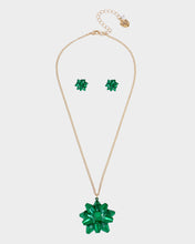 PINK XMAS BOW SET GREEN - JEWELRY - Betsey Johnson