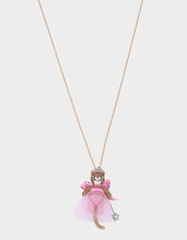 PINK XMAS FAIRY CAT PENDANT PINK - JEWELRY - Betsey Johnson