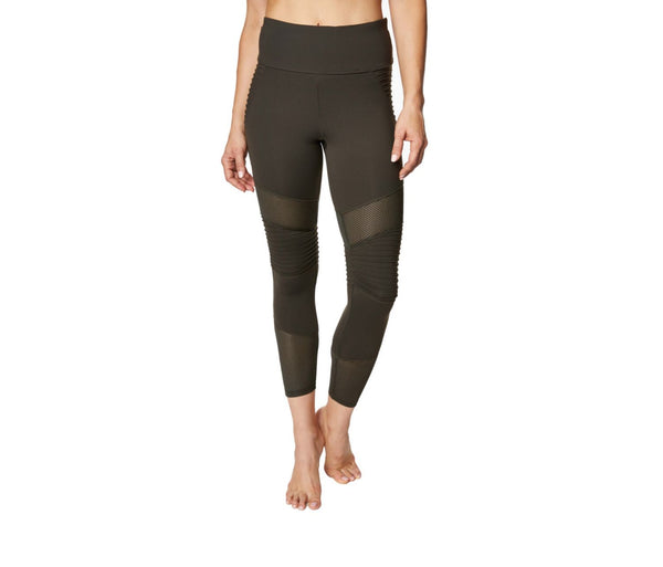 PINTUCK AND MESH PANEL LEGGING MOSS MULTI - APPAREL - Betsey Johnson