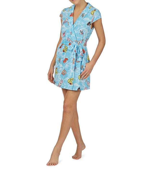 POOLSIDE GLAM ROBE BLUE - APPAREL - Betsey Johnson