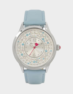 PRETTY PEARLS WATCH BLUE