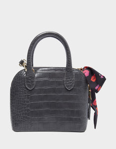 PRETTY PETITE DOME SATCHEL GREY