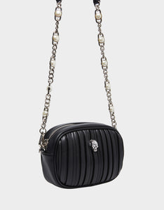 PRETTY PLISSE CROSSBODY BLACK