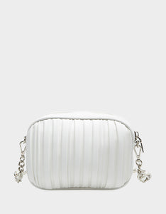 PRETTY PLISSE CROSSBODY WHITE
