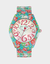 PRINTED ROSES WATCH BLUE MULTI - JEWELRY - Betsey Johnson