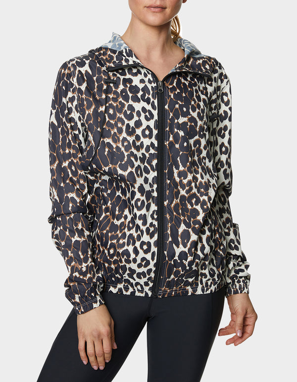 PRINTED RUBBERIZED WINDBREAKER LEOPARD - APPAREL - Betsey Johnson
