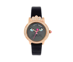 PURRFECT PRINCESS KITTY BLACK WATCH BLACK