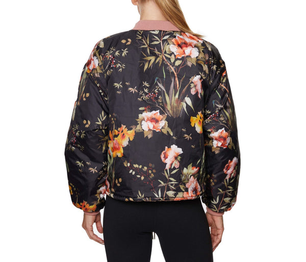QUILTED BOMBER JACKET BLUSH - APPAREL - Betsey Johnson