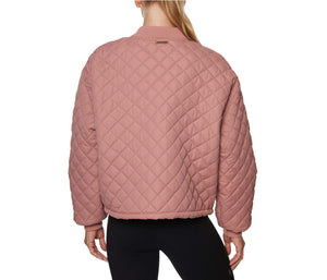 QUILTED BOMBER JACKET BLUSH