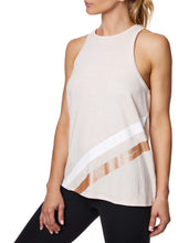 RACING STRIPE SWING TANK BLUSH - APPAREL - Betsey Johnson