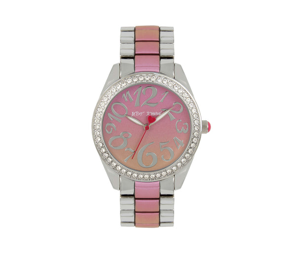 RAINBOW FACE PINK MULTI WATCH PINK MULTI - JEWELRY - Betsey Johnson