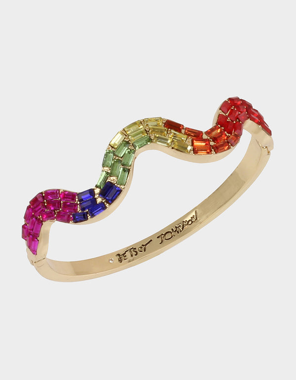RAINBOW RETRO BANGLE RAINBOW MULTI - JEWELRY - Betsey Johnson