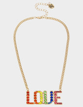 RAINBOW RETRO LOVE PENDANT RAINBOW MULTI - JEWELRY - Betsey Johnson