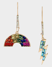 RAINBOW RETRO MISMATCH EARRINGS RAINBOW MULTI - JEWELRY - Betsey Johnson