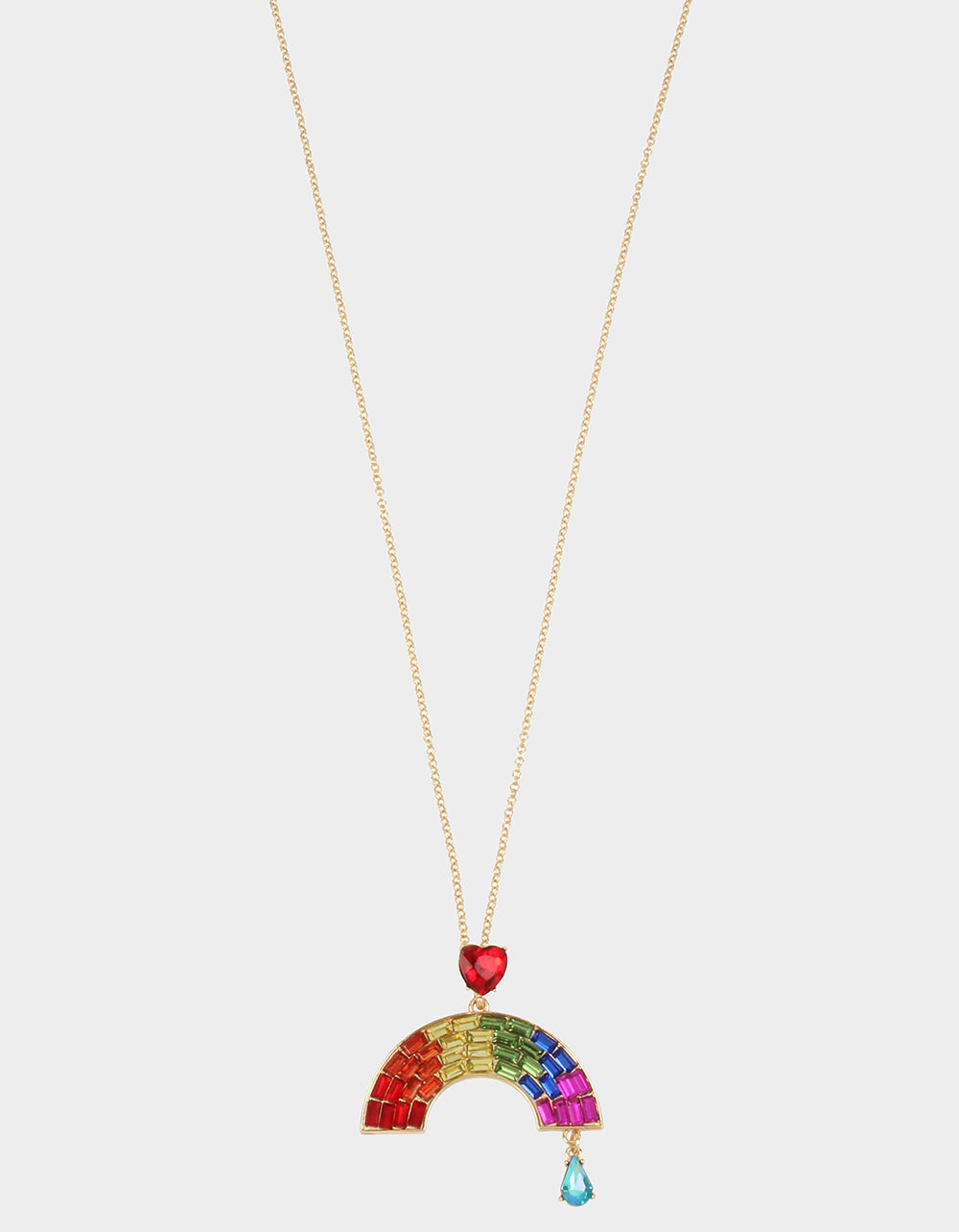 RAINBOW RETRO PENDANT RAINBOW MULTI - JEWELRY - Betsey Johnson
