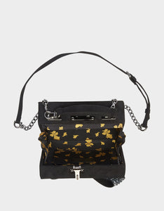 RAZZLE DAZZLE BOW BOX BAG BLACK SILVER