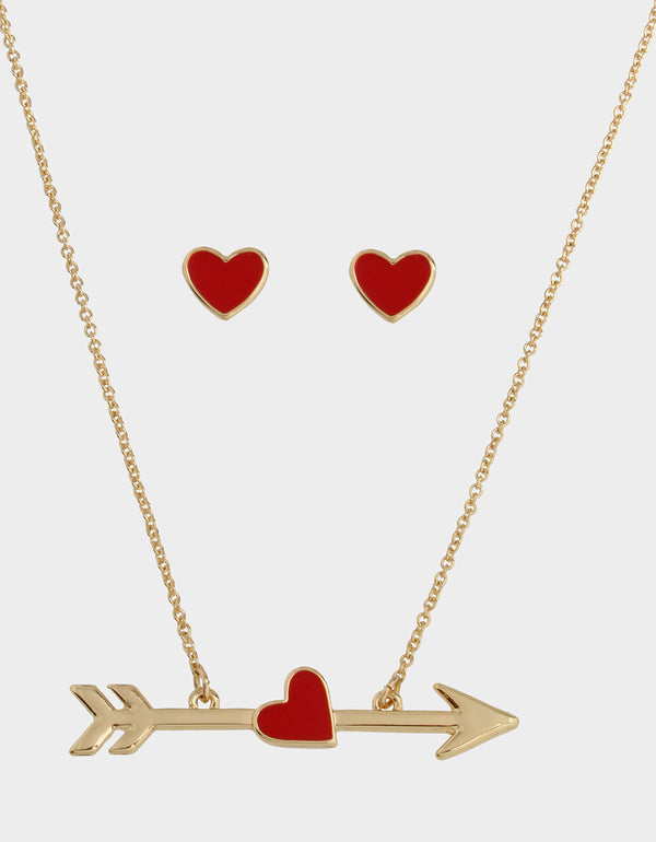 RED HOT ARROW SET RED - JEWELRY - Betsey Johnson
