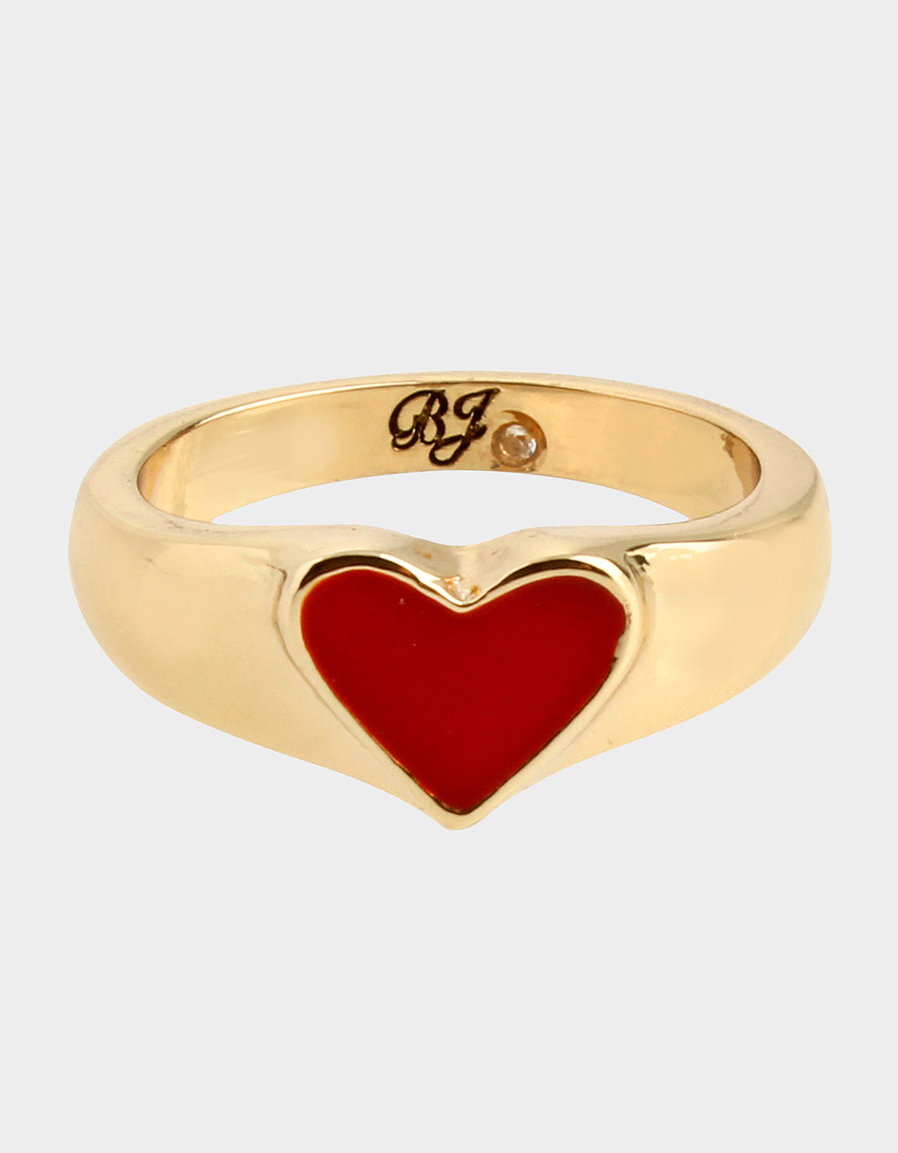 RED HOT HEART RING RED