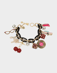 RETRO GLAM STATEMENT BRACELET MULTI