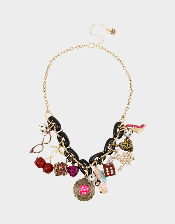 RETRO GLAM STATEMENT NECKLACE MULTI - JEWELRY - Betsey Johnson