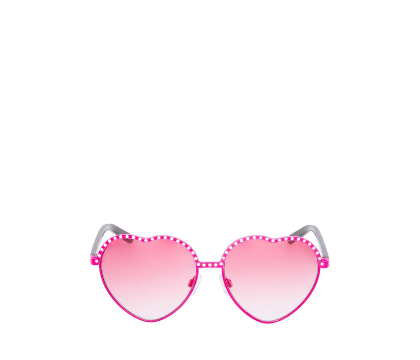 RHINESTONE TOPPED HEART SUNGLASSES PINK - ACCESSORIES - Betsey Johnson