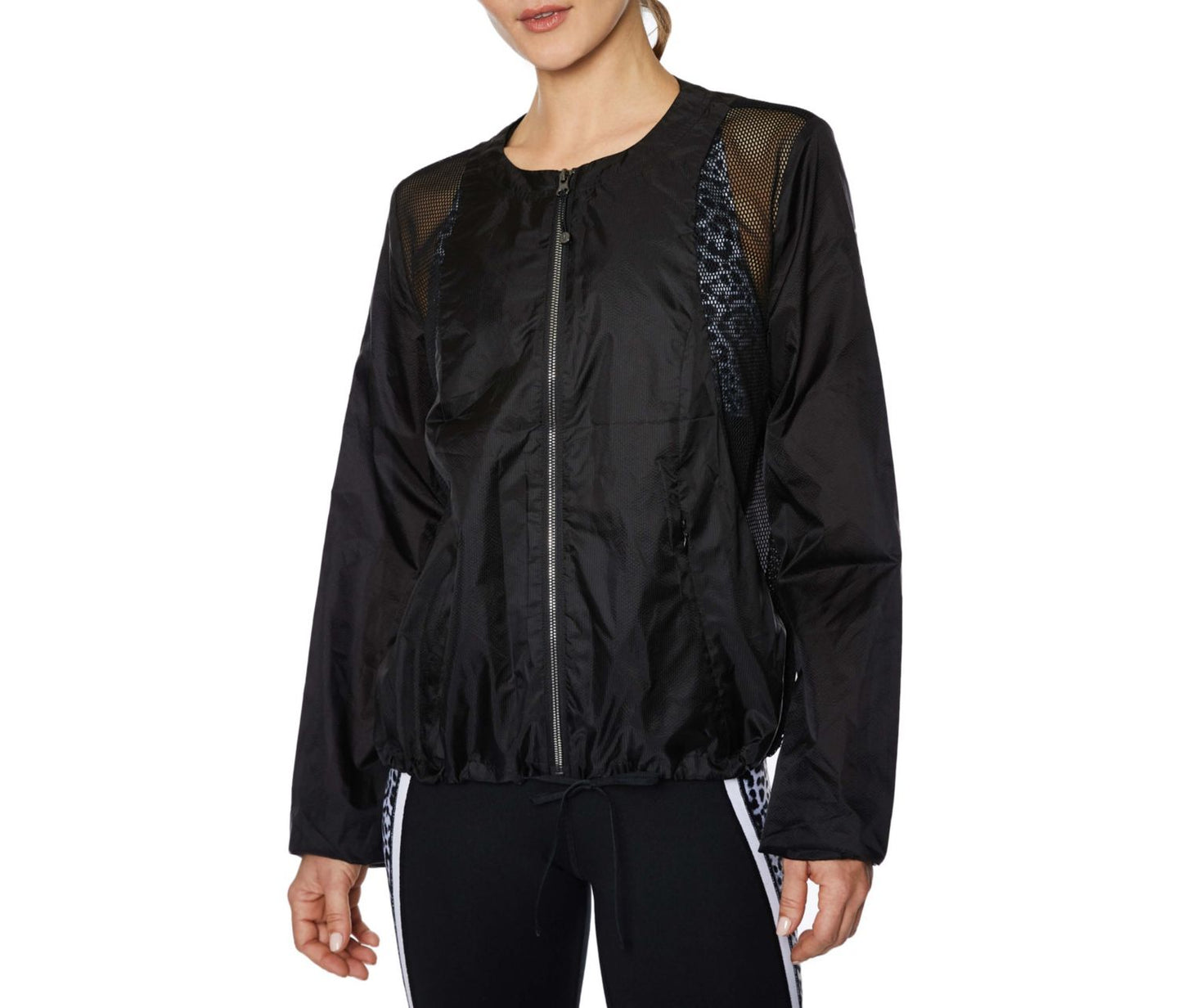 RIPSTOP MESH JACKET BLACK - APPAREL - Betsey Johnson