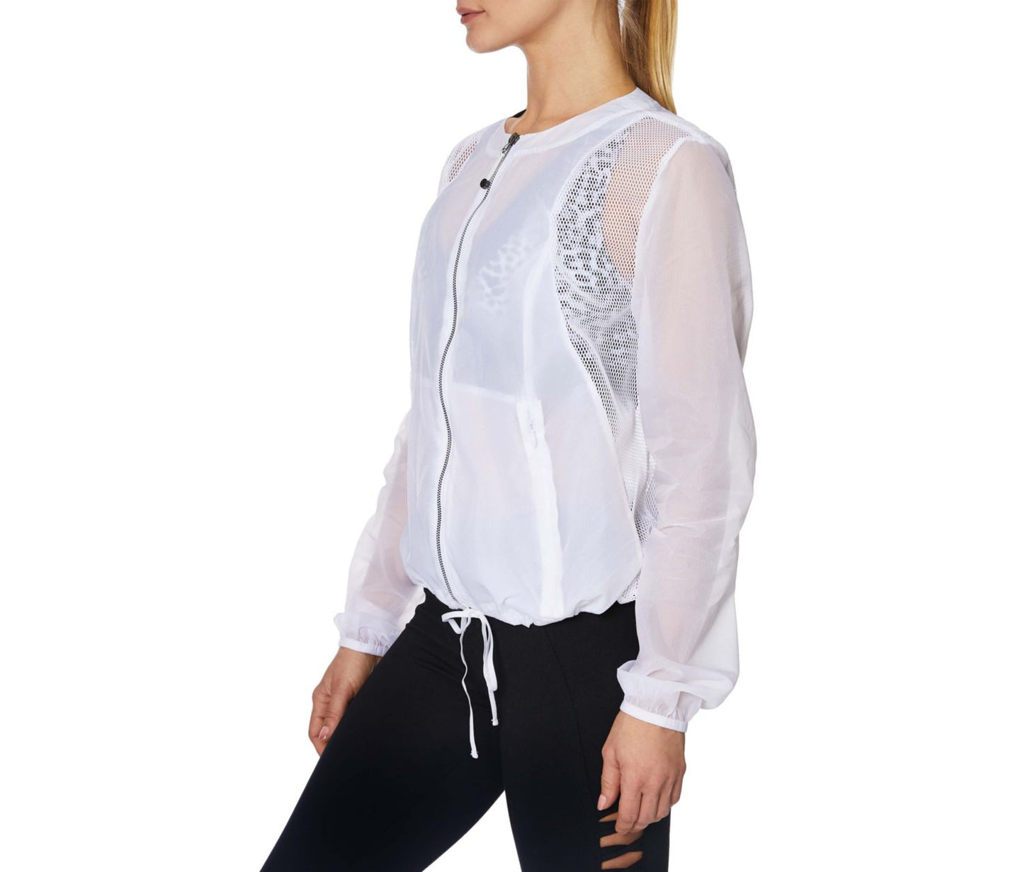 RIPSTOP MESH JACKET WHITE - APPAREL - Betsey Johnson
